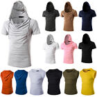Fashion Men's Hooded T-shirt Casual Hoodie Shirts Short Sleeve / Sleeveless Tops
