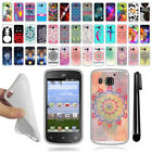 For Huawei Magna H871G TPU SILICONE Rubber SKIN Soft Protective Case Cover + Pen