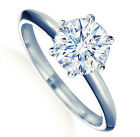 18k White Gold Plated On Silver 2 Carat Wedding Engagement Ring R165