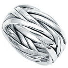 925 Sterling Silver Intertwined Woven Vines Plain Celtic Band Ring Size 5-14 NEW