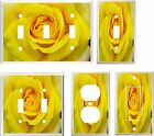 YELLOW ROSE LIGHT SWITCH COVER PLATE  K1