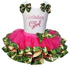 Hot Pink Camo Satin Trimmed Tutu Birthday Girl Party Dress Outfit