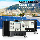20/10A 12/24V LCD PWM 2 DUAL USB Solar Panel Battery Regulator Charge Controller