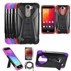 Phone Cover For LG Phoenix 2 / Escape 3 / K7 4g LTE Case Stand USB Charger Film