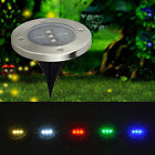 Solar Underground 3 LED Deck Buried Light Outdoor Path Garden Path Floor Lamp