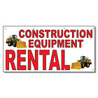 Construction Equipment Rental Red 13 Oz Vinyl Banner Sign With Grommets