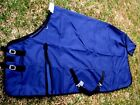 640D Turnout Water Resistant Winter Horse SHEET Light Blanket Navy 916