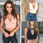 Women Bustier Bra Tank Sleeveless Vest Sexy Crop Tops Bralette Casual Blouse Tee