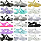 Womens Girls Retro Strappy Ladies Jelly Sandals Shoes Summer Beach 90s New Size