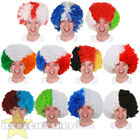 FOOTBALL TEAM SUPPORTERS AFRO WIG NOVELTY HAIR FOR SPORTS EVENT RUGBY SOCCER