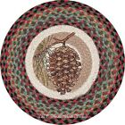 "Pinecone 15"" Round Braided Jute Placemat ~ Quantity Choice"