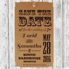 Personalised Kraft Classical Romance Wedding Save the Date Tags with Envelopes