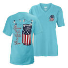 Royce Apparel Shinin', Red, White, & Blue V-Neck T-shirt