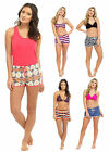 Womens Swim Shorts Swimming Surf Beach Shorts With Elasticated Waist Ladies Size