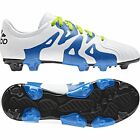 adidas X 15.3 TRX FG / AG 2015 Soccer Shoes Cleats New White / Slime / Blue