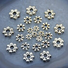Tibetan Silver Daisy Flower Shaped Spacer Beads Jewelry Making DIY  4mm 6mm 8mm