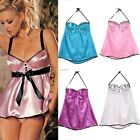 2016 Sexy Women V-Neck Backless Nightwear Babydoll Lingerie Dress G-string  B20E