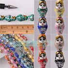 22x13mm Russian Doll Pattern Charms Loose Ceramic Porcelain Beads