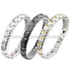4 in 1 Steel Shield Magnetic Energy Germanium Mens Therapy Power Health Bracelet