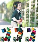 Colorful Winter Autumn Kids Wrap Warm Toddle Scarf Knitting Ball Stripe Shawl