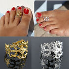 Women Gold/Silver Vintage Carving Metal Toe Ring Foot Beach Jewelry Open Ring