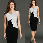 Sexy Ladies Bow Stitching Dress Bodycon Cocktail Party Evening Short Mini Dress