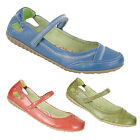 Ladies New Velcro Bar Leather Lined Mary Jane Shoes Blue Red Green 3 4 5 6 7 8 9