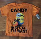 NWT Boys Orange Despicable Me MINIONS Candy That's All Eye Want Tee ~Var Sizes~