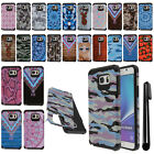 For Samsung Galaxy Note 5 N920 ShockProof HYBRID Rubber HARD Case Cover + Pen