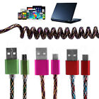 2A Spiral Coiled USB 2.0 Male to Micro USB 5 Pin Male Extension Charging Cable