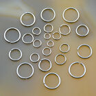 Silver Pewter Plated Open Split Jump Rings Connectors Jewelry Findings