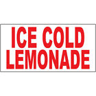 Ice Cold Lemonade Red Food Bar Restaurant Food Truck DECAL STICKER Retail Store