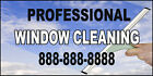 Professiona Window Cleaning Custom Pnone DECAL STICKER Retail Store Sign