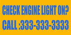 my check engine light is on - Check Engine Light On? Custom Number Style 2 DECAL STICKER Retail Store Sign