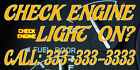 my check engine light is on - Check Engine Light On? Custom Number DECAL STICKER Retail Store Sign