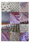 "100% cotton 54"" wide fabric bunnies, woodland vw campervans, stars, flowers"