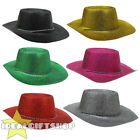 GLITTER COWBOY HAT ADULTS COWGIRL WESTERN WILD WEST FANCY DRESS ACCESSORY