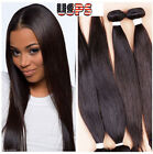100% Unprocessed Virgin Human Hair Brazilian Peruvian Extensions Weft US STOCK