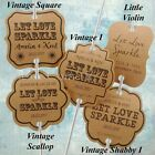 Personalised Kraft Let Love Sparkle Wedding Sparkler Tags