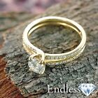14k Yellow Gold Engagement Ring 0.91 TCW Real Diamond VVS/I-J Size 6.5 Enhanced