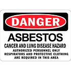 Danger Asbestos Cancer Lung Disease Hazard Authorized Personnel Metal Sign $38.99 USD on eBay