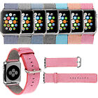 For Apple Watch 38/42mm Release Sport Woven Nylon Strap Band with Classic Buckle