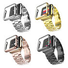 Stainless Steel Watch Band Strap   Adapter   Case Cover for Apple Watch iWatch