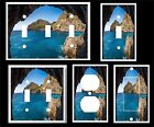 BEACH CAVE BLUE OCEAN WATER  LIGHT SWITCH COVER PLATE    YOU PICK PLATE SIZE