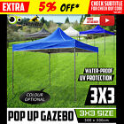 3x3m Gazebo Outdoor Marquee Tent Pop Up Folding Canopy Event Market Party BBQ