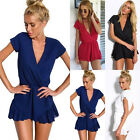 Hot Womens Clubwear V Neck Playsuit Bodycon Party Jumpsuit&Romper Trousers Dress