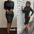 Sexy Lady Long Sleeve Bandage Pencil  Strench Bodycon Casual Evening Party Dress