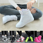 Women New Ankle Boots Wedge Heel Shoes Casual Height Increased High Top Sneakers