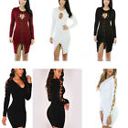 Sexy Women Long Sleeve Bodycon Hollow Pencil Cocktail Party Evening Ladies Dress