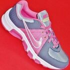NEW Girl's Youth's NIKE T-RUN 5 Gray/Pink Athletic Running Sneakers Shoes